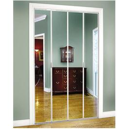 "30"" x 80"" White Mirror Bifold Door thumb"