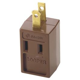 3 Outlet 2 Wire Brown Vinyl Cube Wall Tap thumb