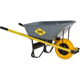 6 Cu. Ft. Landscaper/Contractor Wheelbarrow with Steel Tray and Flat Free Tire thumb