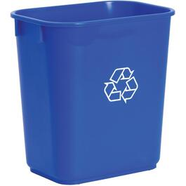 14 Quart Blue Recycle Wastebasket thumb