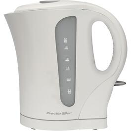1.7 Litre 1500 Watt Cordless White Jug Kettle thumb