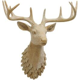 "18"" Glitter Deer Head Wall Mount Decoration thumb"