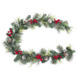 6' Decorated Berry Pine Garland thumb