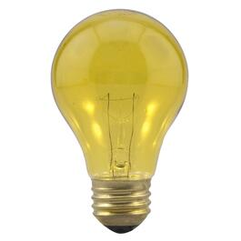 25W A19 Medium Base Yellow Light Bulb thumb