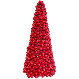 "10.5"" Red Berry Cone Tabletop Tree thumb"