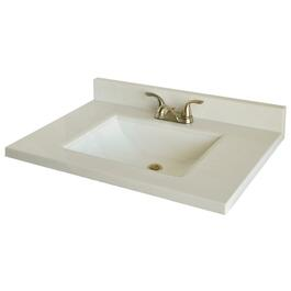 "49"" x 22"" White Two Tone Cultured Marble Vanity Top thumb"