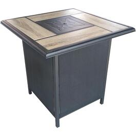"36"" Grande Steel Propane Firepit Bar Hi Table thumb"