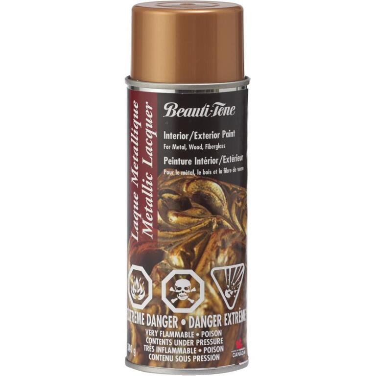 BEAUTI-TONE 340g Acrylic Gold Gloss Lacquer Spray Paint