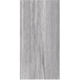 "11.64 sq. ft. 12"" x 24"" Grey Travertino Classico Porcelain Tile Flooring thumb"