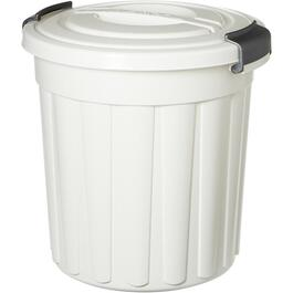 24L White Maxi Garbage Can, with Lid thumb