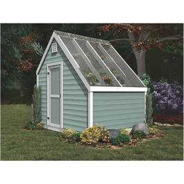 8' x 10' Decorative Plywood Green House Gable Shed Package thumb