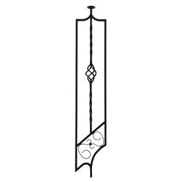 ".38"" x 6"" x 35"" Wrought Iron Panel Stairway Baluster thumb"