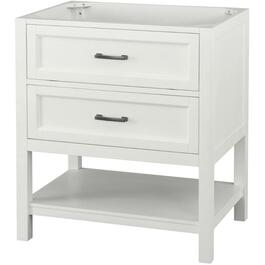 "30"" x 22"" Georgette 1 Drawer + 1 Shelf White Vanity thumb"