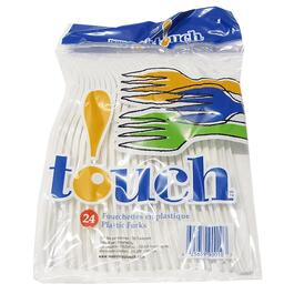 24 Pack White Plastic Forks thumb