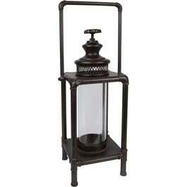 "22"" Square Black Elysian Metal Lantern thumb"