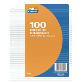 100 Sheets Ruled Paper Refills thumb