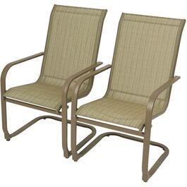 2 Pack Victoria Beige Spring Sling Dining Chairs thumb