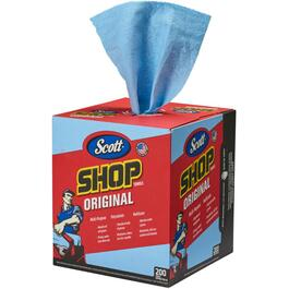 "200 Pack 10"" x 12"" Blue Shop Towels thumb"