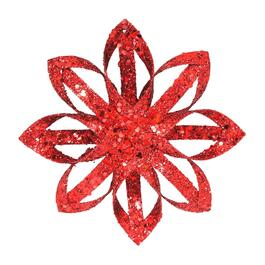 Paper Red Snowflake Ornament thumb