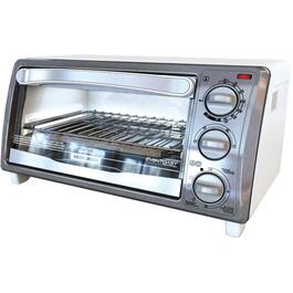 4 Slice White/Stainless Steel Toaster Oven thumb