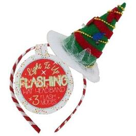 Light Up Christmas Tree Headband, Assorted Styles thumb