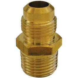 "1/2"" Flare x 3/8"" Male Pipe Thread Brass Connector thumb"