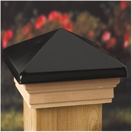 "6"" x 6"" Black Ornamental Post Cap thumb"