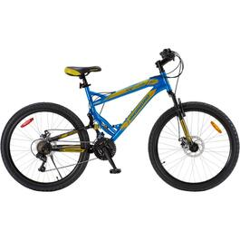 "26"" Blue/Yellow Fury Deluxe Mens Bike thumb"