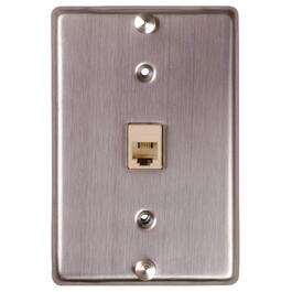 Stainless Steel Modular Phone Wall Mount Plate thumb
