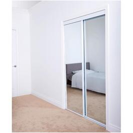 "72"" x 80"" White Top Roll Mirror Sliding Door thumb"