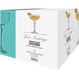 4 Pack 8.6oz Capone Coupe Champagne Stemware Set thumb