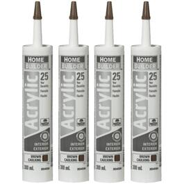 4 Pack 300mL Brown 25 Year All Purpose Acrylic Caulking thumb