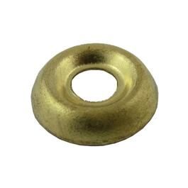 10 Pack #4 Plain Brass Finish Washers thumb