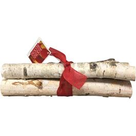 3 Pack Birch Logs Table Top Decor, with Ribbon thumb