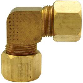 "1/4"" Brass 90 Degree Compression Elbow thumb"