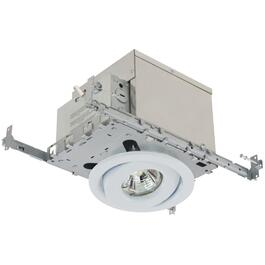 "4"" 50W White Recessed Tilting Light Fixture for Insulated Ceilings thumb"
