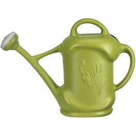 11.4L Grass Green Plastic Watering Can, with Heron Design thumb
