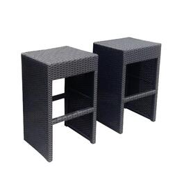 2 Pack Logan Wicker Bar Height Stools thumb