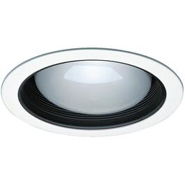 "6"" 75W Black Baffle Recessed Pot Light with White Trim thumb"