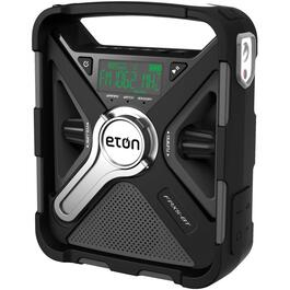 Portable Solar Emergency Radio, with Bluetooth, Weather Alert and USB Cellphone Charger thumb