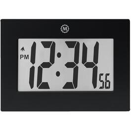 "9"" x 6.5"" x 1"" Black Digital LCD Clock thumb"