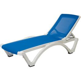 White/Blue Baja Sling Chaise Lounge thumb