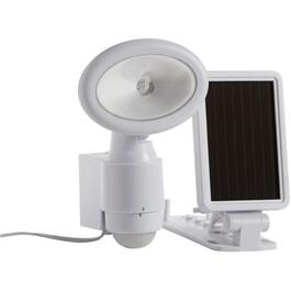 White Solar Powered LED Motion Detector Security Light thumb