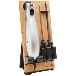 Silver Electric Knife, with Wood Stand thumb