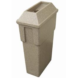 16 Gallon Sandstone Round Bullseye Garbage Can thumb