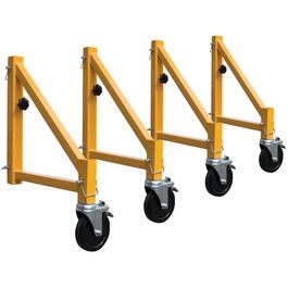 4 Pack Scaffold Outriggers, with Casters thumb