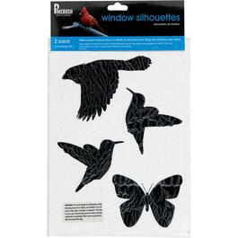 2 Pack Bird Silhouette Window Stickers thumb