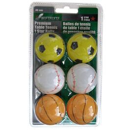 6 Pack Table Tennis Sport Balls thumb