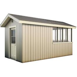16' x 8' Green House Gable Shed Package, with Vinyl Siding thumb