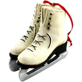 "4.13"" Resin White Figure Skates Ornament thumb"